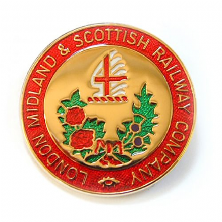 London, Midland and Scottish Railway (LMS) Coat Of Arms  Collectors Badge